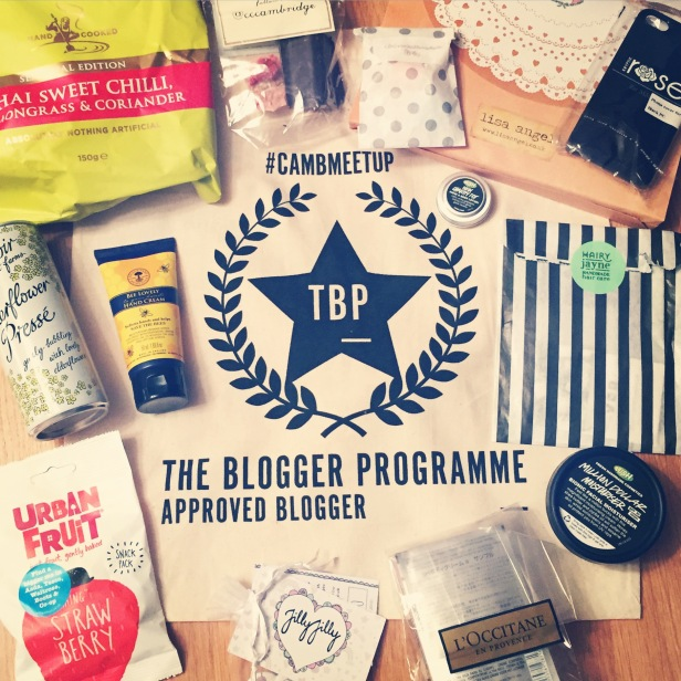 A display of the goody bag with the products and accessories.
