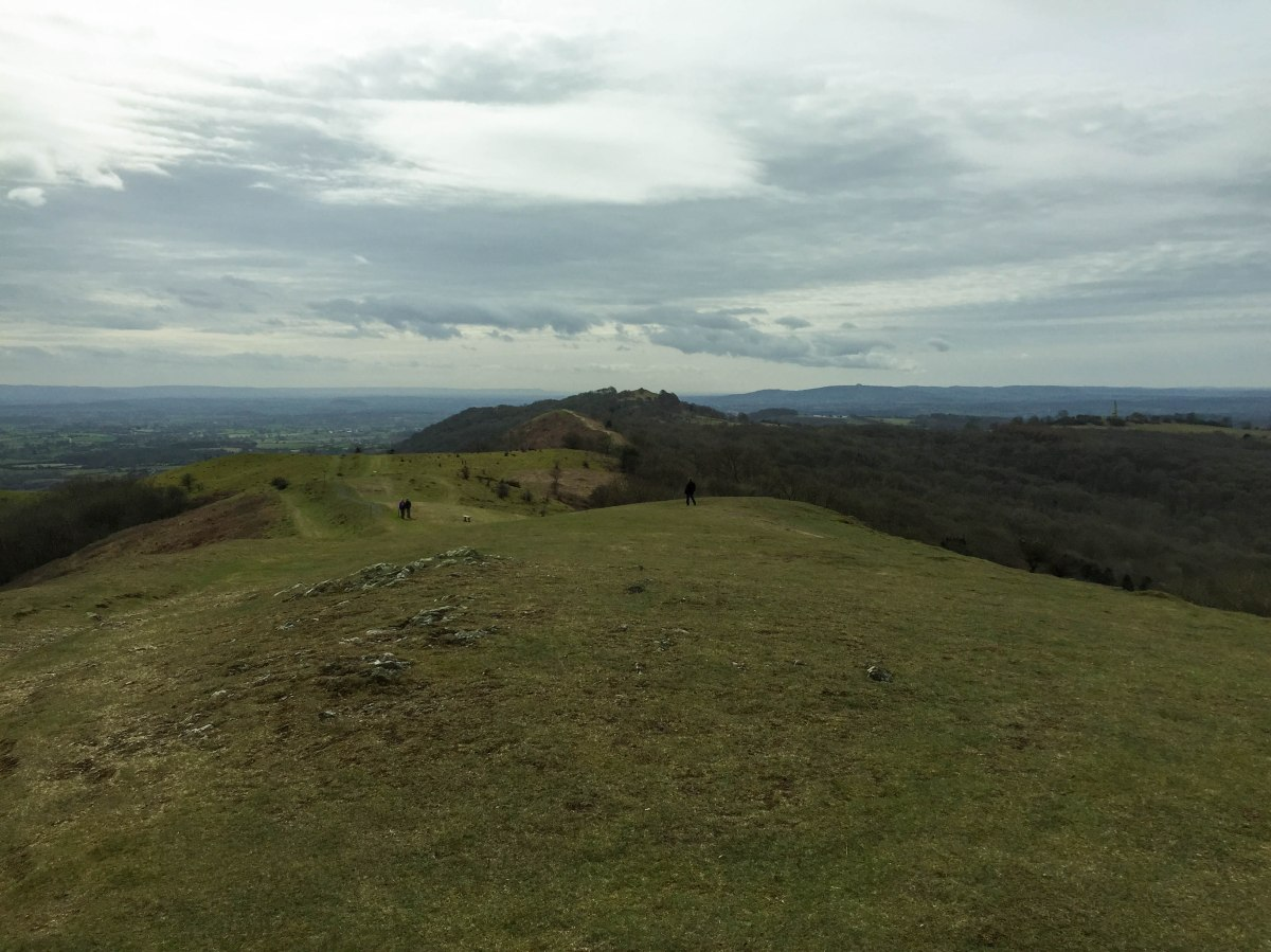 A photo of the view over Herefordshire and towards Wales