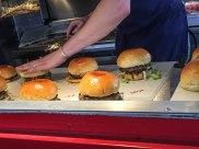 A photo of the final preparation for the amazing Steak & Honour burgers.