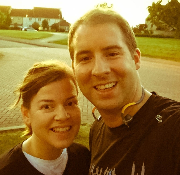 A photo of Emma and Rob after their run.