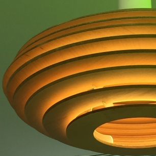 A photograph of the very modern and cool lighting.