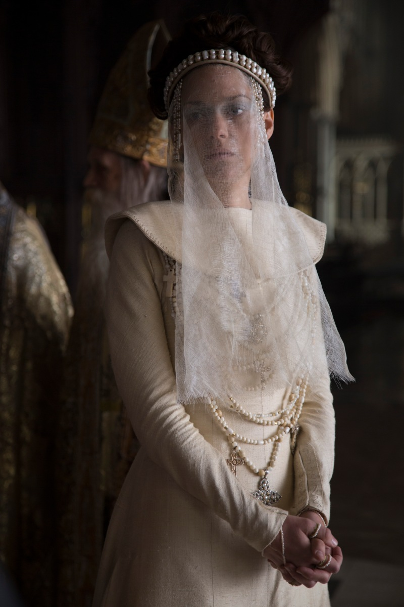 A photograph of Marion Cotillard as Lady Macbeth at the Coronation, filmed under the Lantern of Ely Cathedral.