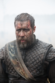 A photograph of Paddy Considine as Banquo filming on the Isle of Skye.