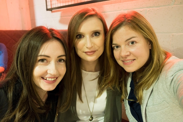 A photograph of Emma and friends, Laura and Pippa