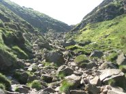 A photograph of a rocky part of Kinder Scout, perfect for scrambling
