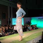 A photograph of a model wearing Cath Kidston