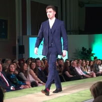 A photograph of a model wearing Charles Tyrwhitt