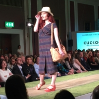 A photograph of a model wearing Cuckoo
