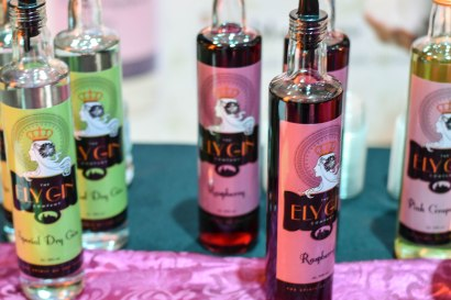 A photograph of Ely Gin bottles in three different flavours