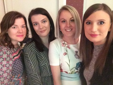 A photograph of the social media team selfie at the Friday Night of Fashion