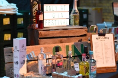 A photograph of a display at the festival off licence