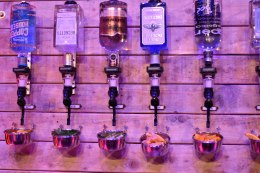 A photograph of some optics at one of the bars