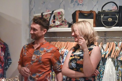 A photograph of shop manager Andrew and co-owner Amanda enjoying the show
