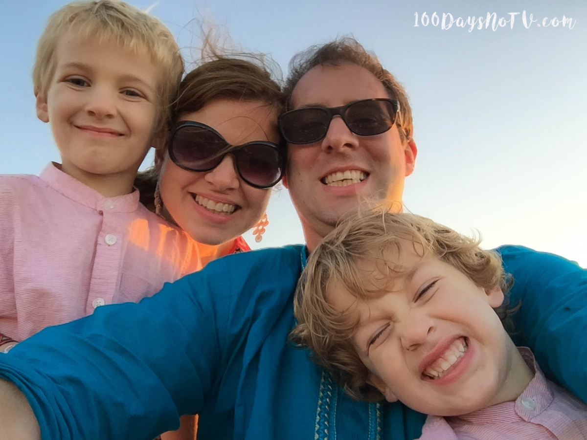 A photograph of Emma and her family.