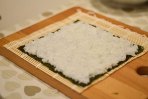 Rice covered nori