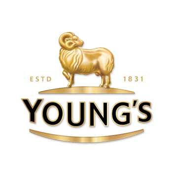 The Young's & Co. logo. A golden ram facing left with its head turning to the right. Below is Young's in capital letters.