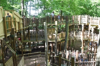 A photograph of the Sky Maze.