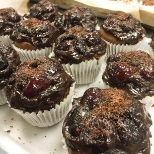 Cherry choc cupcakes
