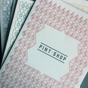 New style menu. Photo courtesy of Pint Shop.