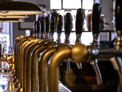 Beer on tap. Photo courtesy of Pint Shop.