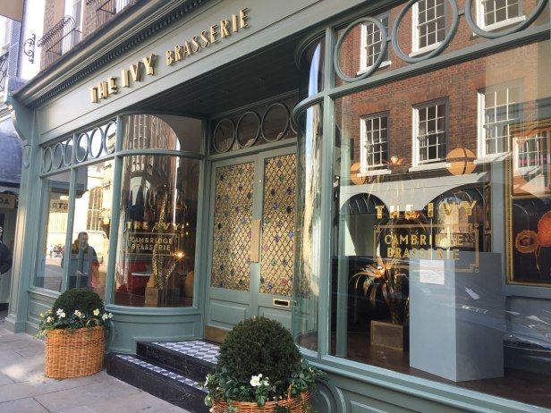 A photograph of the exterior of The Ivy Cambridge Brasserie
