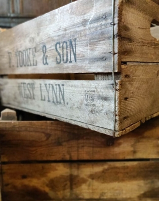Wooden crates from King's Lynn