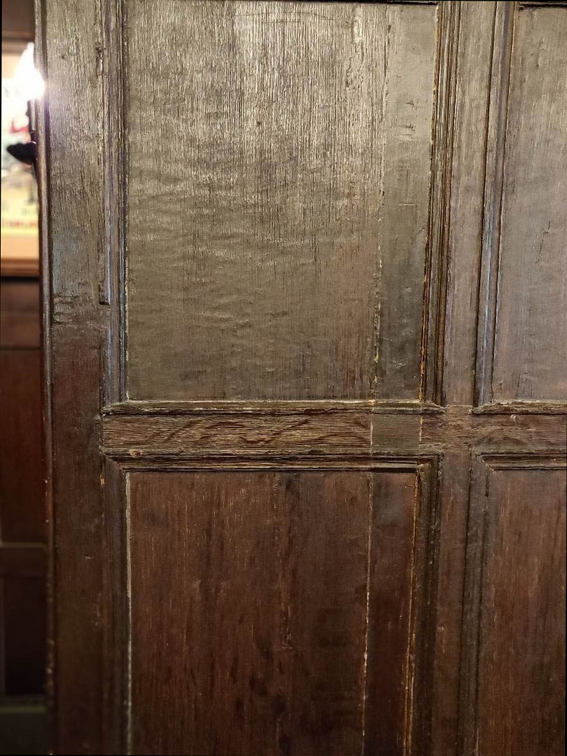 Oak panelled walls