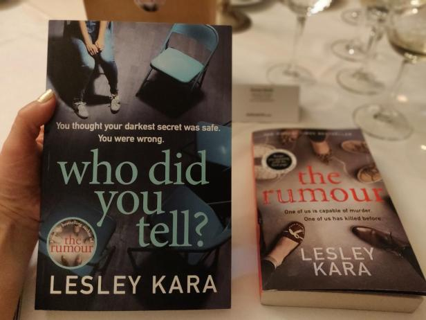 Lesley Kara's novels: Who Did You Tell and The Rumour