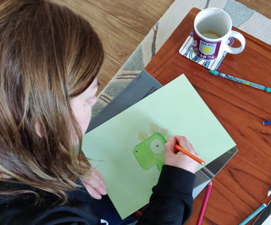 Emma adding colour