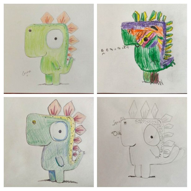 All four drawings