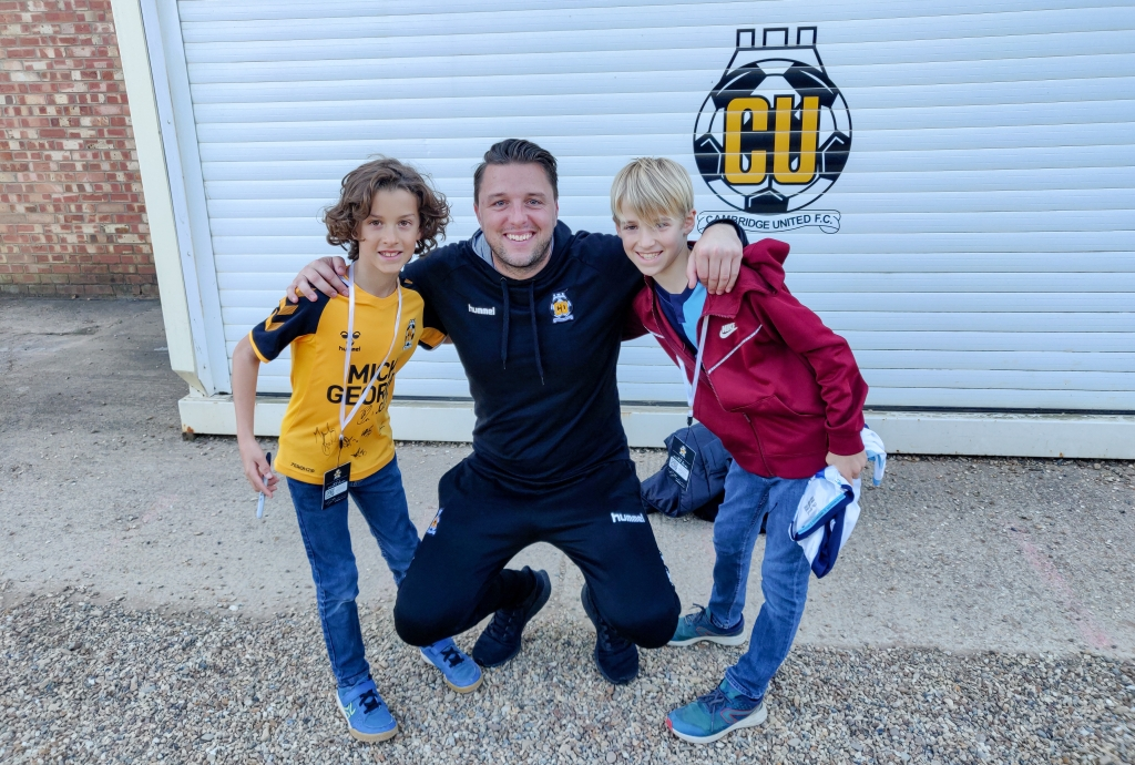 Ben and Ollie with Mark Bonner